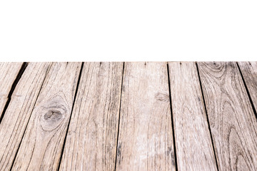 Wood plank light brown texture background.Surface eroded by time and old wood detail background.