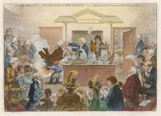 Science - Gillray Satire. Date: 1802