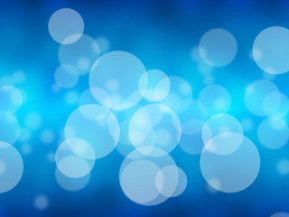 Blue blurred abstract bokeh background