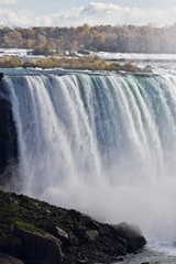 Beautiful photo with amazing powerful Niagara waterfall