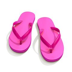 Pink flip flops - front view