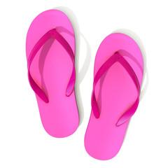 Pink flip flops - top view