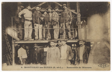 French Miners. Date: circa 1900
