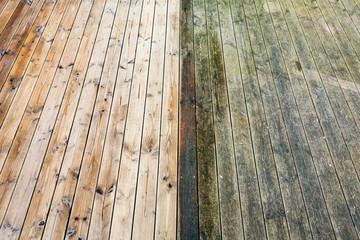 Terrasse säubern
