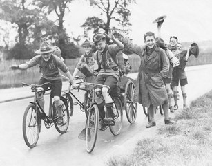 Scouts on Bikes 1930. Date: 11096