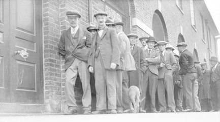 British Unemployed Men. Date: circa 1929