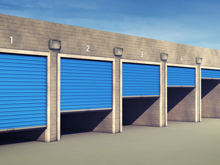 Outdoor self storage units , Storage rental facility