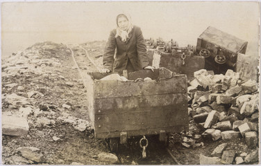 Colliery Girl - 1890s. Date: 1890's