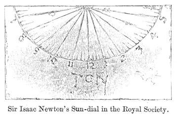Isaac Newton's Sundial. Date: late 17th century