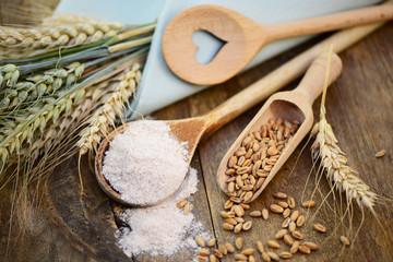 Mehl,Getreide,Weizenkörner