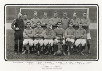 Everton Team 1905-6. Date: 1905-6