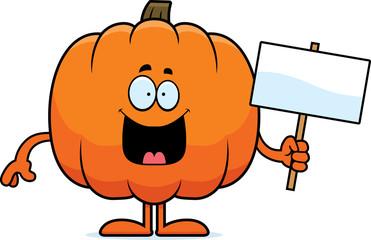 Cartoon Pumpkin Sign