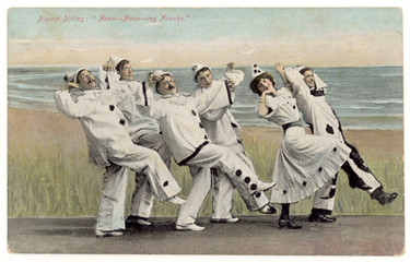 Pierrot Concert Party. Date: 1905
