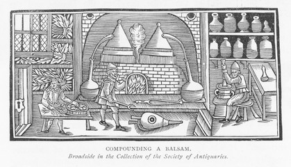 Compounding a Balsam. Date: 17th Century
