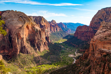 View from Angels Landing, Zion National Park, Utah Fototapete