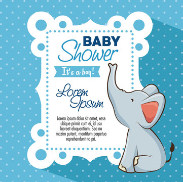baby shower boy invitation card vector illustration graphic design