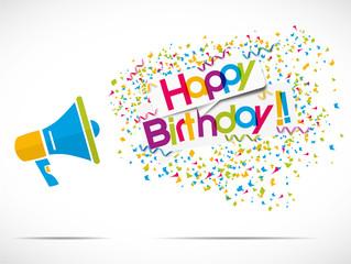 megaphone happy birthday