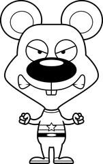 Cartoon Angry Superhero Mouse