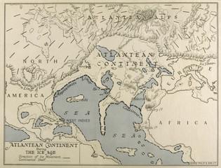Atlantean Continent Map. Date: 1933