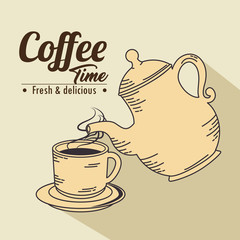 coffee cup icon vector illustration graphic design