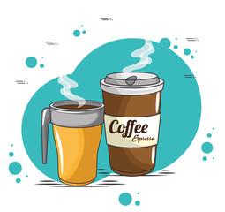 coffee cups icon vector illustration graphic design