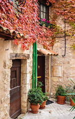 Patio in old village Vence, France.