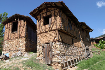 Traditional Ottoman Village Houses in Gelemic, Keles, Bursa