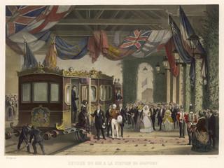 Fototapete - Victoria at Gosport. Date: 1844