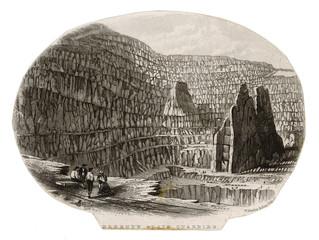 Slate Quarry - Wales. Date: 1808