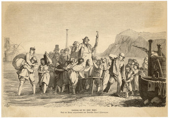 Tourists at Capri. Date: 1867