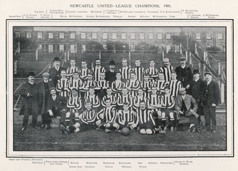 Newcastle United Team. Date: 1905