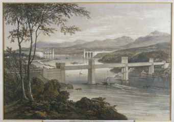 Menai - Home - Lithograph. Date: 1852