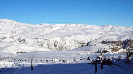 Farellones Ski Station in Chile