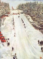 Ski Jumping in Oslo 1905. Date: 1905