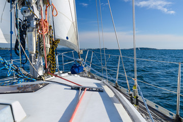 sea view from sailing yacht