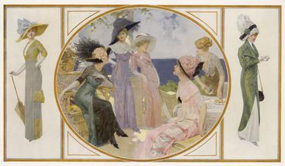 Garden Party Frocks 1911. Date: 1911