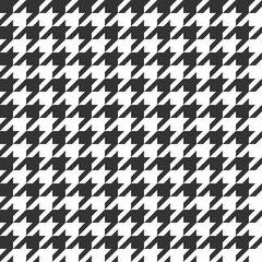 Houndstooth seamless pattern. Vintage textile texture. Classic fashion