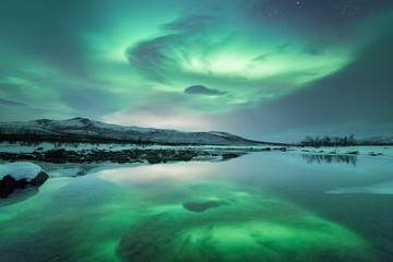 aurora reflection
