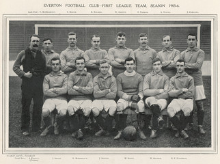 Everton Football Team. Date: 1905