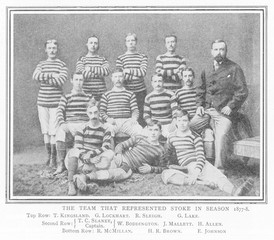 Stoke City Football Club. Date: 1877