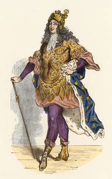 Louis XIV in Costume. Date: 1638-1715