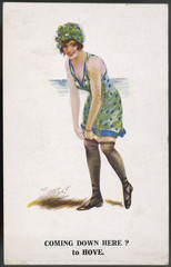 Comic Card - Come to Hove. Date: 1920
