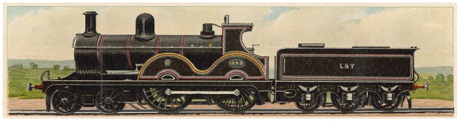 Lancashire - Yorkshire Railway. Date: 1900