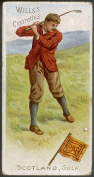 Golf - in Scotland. Date: 1901