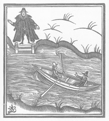 Thames Ferryboat. Date: 1684