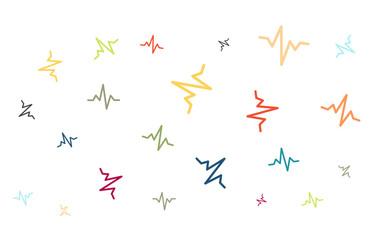 Viele bunte Graph-Symbole