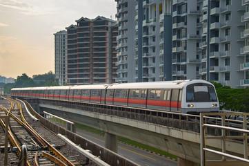 Singapore metro train outdoor