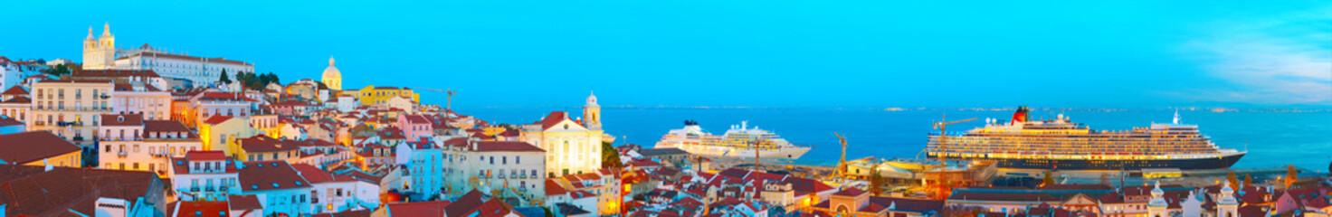Lisbon Old Twon at twilight, Portugal