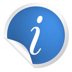 runder Sticker blau - Information - Service