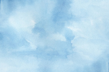 Abstract blue colorful hand draw water color background